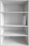 Armário branco com prateleiras vazias Fotografia de Stock