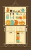 Armário da cozinha ilustração royalty free