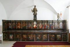 Armário da sacristia, igreja da concepção imaculada em Lepoglava, Croácia Imagens de Stock Royalty Free