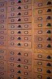 Armário de arquivo do vintage Imagens de Stock