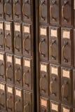 Armário de arquivo do vintage Fotos de Stock