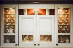Armário de cozinha Interior da cozinha moderna imagem de stock royalty free