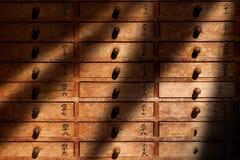 Armário de madeira Fotografia de Stock