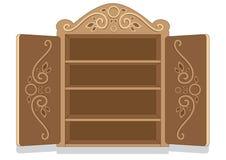 Armário decorado imagem de stock