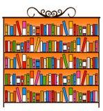 Armário do livro ilustração do vetor