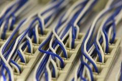 Armário do quadro de distribuição do cano principal do equipamento de telecomunicação foto de stock