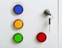 Indicadores coloridos elétricos fotografia de stock royalty free