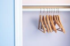 Armário vazio, nenhuma roupa Fotografia de Stock Royalty Free