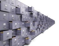 Armários de arquivo Imagens de Stock