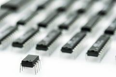 Armé av processorer royaltyfria foton