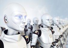 Armé av robotar vektor illustrationer