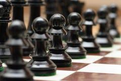 Armé av schack Arkivbilder