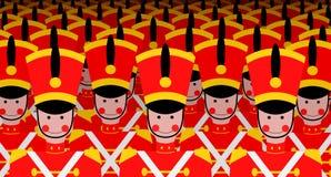 Armé av soldater Royaltyfri Bild