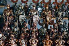 Armé av tenn- soldater Royaltyfri Foto