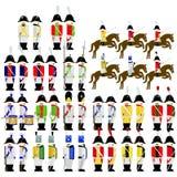 Armé för militära likformig av Sachsen i 1812 Arkivfoto
