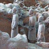 Armé för terrakotta för Qin dynasti, Xian (Sian), Kina Arkivfoto