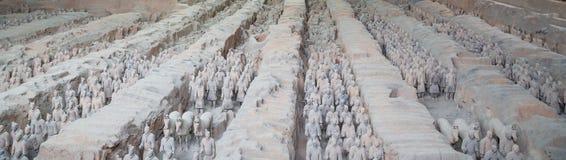 Armé för terrakotta för Qin dynasti, Xian (Sian), Kina Arkivfoton