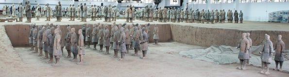 Armé för terrakotta för Qin dynasti, Xian (Sian), Kina fotografering för bildbyråer