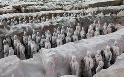 Armé för terrakotta för Qin dynasti, Xian (Sian), Kina royaltyfri bild