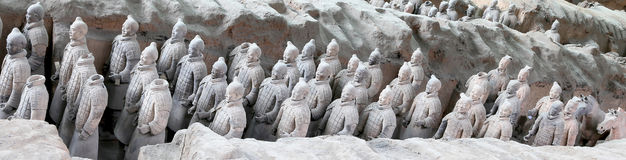 Armé för terrakotta för Qin dynasti, Xian (Sian), Kina royaltyfria bilder