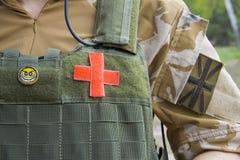 armébritish läkare Arkivfoto