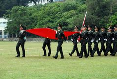 Armée chinoise en garnison de Hong Kong Images stock