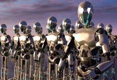 Armée d'androïde de robot Photographie stock