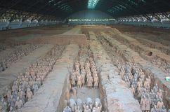 Armée de guerrier de terre cuite, Xian China Photo libre de droits
