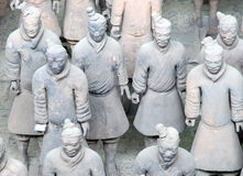 Armée de terre cuite de dynastie de Qin, Xian (Si-ngan), Chine Image stock