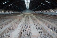 Armée de terre cuite de dynastie de Qin, Xian (Si-ngan), Chine photographie stock