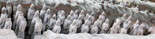 Armée de terre cuite de dynastie de Qin, Xian (Si-ngan), Chine images libres de droits