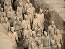 Armée de terre cuite - Xian - Chine Images stock