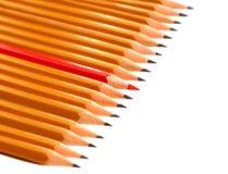 Armée des crayons Photos stock