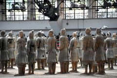 Armée des guerriers de terre cuite et des chevaux, Xian, Chine photographie stock