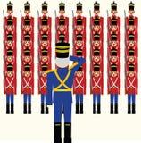 Armée en bois de soldats illustration stock