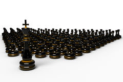 Armée/foule d'échecs Photos stock