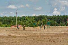 Armée Games-2017 Concours Tyumen d'itinéraire sûr Russie Photo libre de droits
