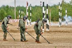 Armée Games-2017 Concours Tyumen d'itinéraire sûr Russie Image stock