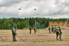 Armée Games-2017 Concours Tyumen d'itinéraire sûr Russie Image libre de droits