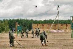 Armée Games-2017 Concours Tyumen d'itinéraire sûr Russie Images stock