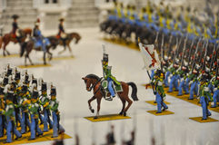 Armée historique des soldats de bidon image libre de droits