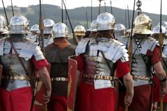 Armée romaine de marche Image libre de droits