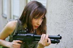 armékvinna Arkivfoton