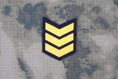 Armélikformig med den frodiga lappen för sergeant royaltyfria foton
