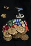 armémedaljer oss Arkivfoton