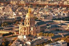 Armémuseum i Paris, Frankrike flyg- sikt royaltyfri bild