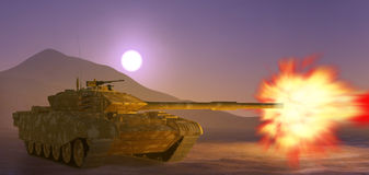 Armén tankar. royaltyfri foto