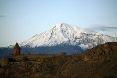 Arménia. Ararat. Manhã fotos de stock royalty free