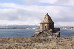 arménia Sevan St Arakelots e Astvatsatsin das igrejas imagens de stock royalty free