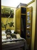 Armésatsutställning i det regements- museet i stadsmuseet i Lancaster England i mitten av staden royaltyfri bild